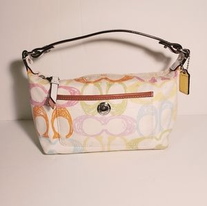 Mini Coach Scribble Signature Pattern Bag
